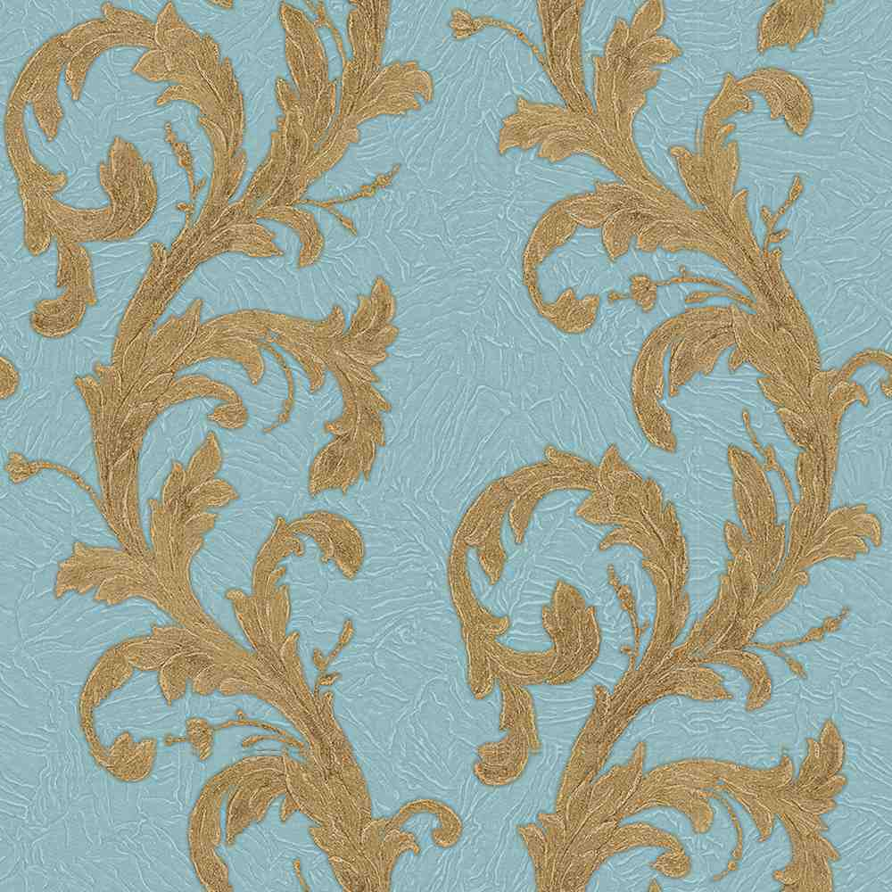 Roll Ornamental Wallpaper – Blue