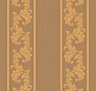 Floral Stripes Wallpaper - Brown,WallpaperFoWall,Hyderabad