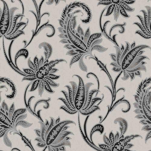 Floral Damask Wallpaper – Black