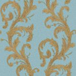 Roll Ornamental Wallpaper – Blue