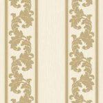 Floral Stripes Wallpaper – Light