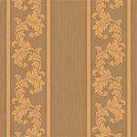 Floral Stripes Wallpaper – Brown