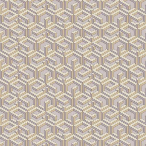 3D Maze wallpaper – Golden Violet