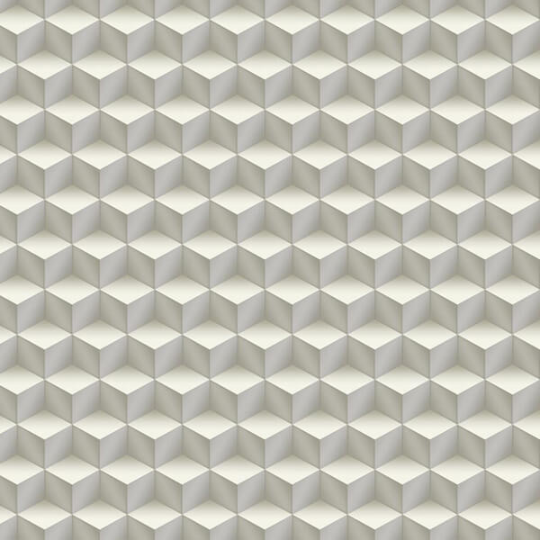 3D Cubes Wallpaper - Off White,3D Wall Decor,Hyderabad