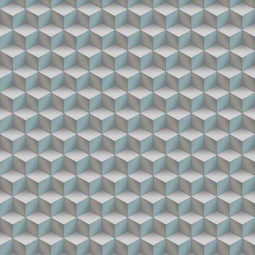 3D Cubes Wallpaper – Sea Green