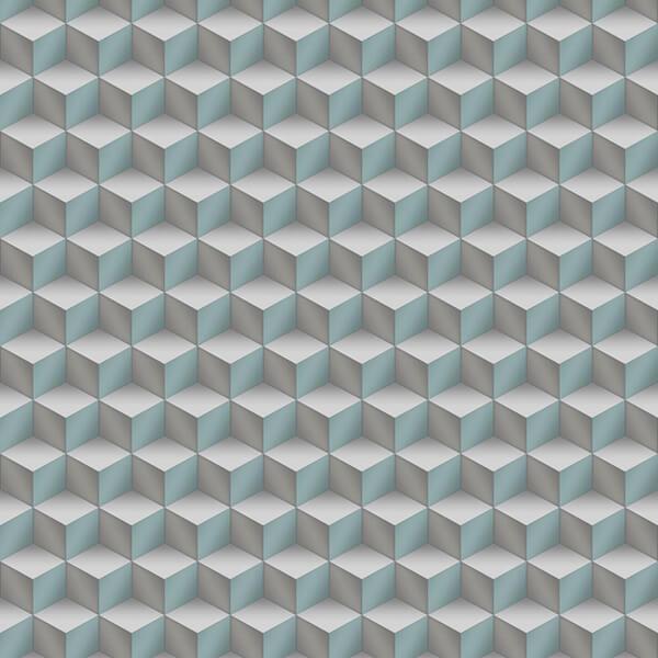 3D Cubes Wallpaper -Sea Green,Hydrabad