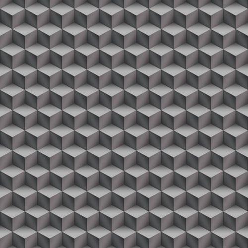 3D cubes Wallpaper – Grey