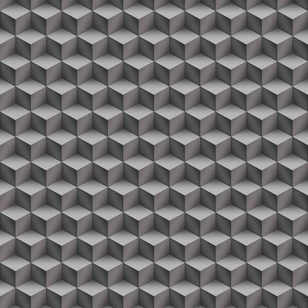3D cubes Wallpaper - Grey,modern wallpaper designs,Hyderabad
