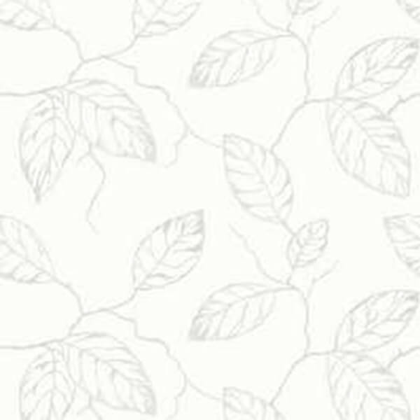 Painted Floral Wallpaper – White