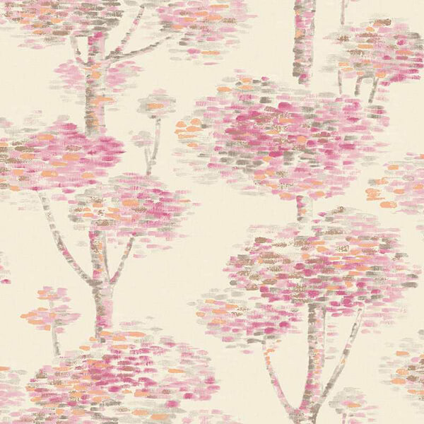 Abstract Tree Wallpaper - Pink