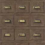 3D Wooden Drawer Wallpaper – Dark Borwn