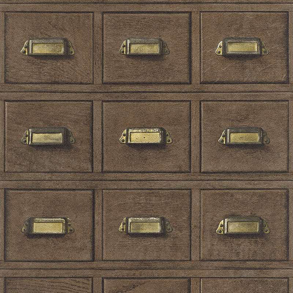 3D Wooden Drawer Wallpaper - Dark Brown,Hyderabad