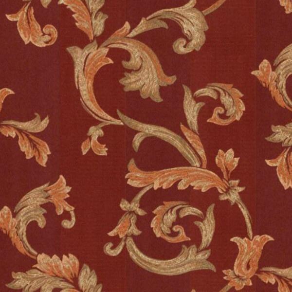 Floral Damask Wallpaper – maroon