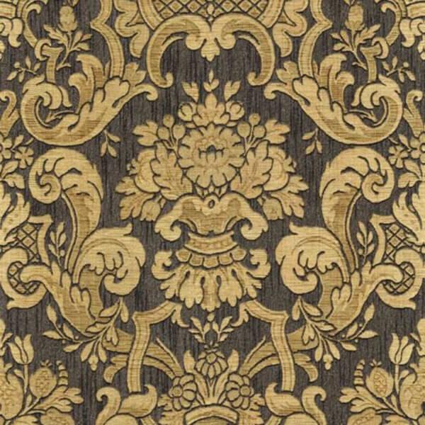 damask wallpaper – Black
