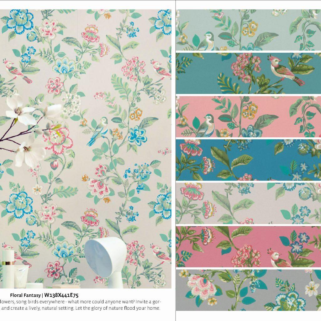PIP Studio-VII Floral Nilaya Asian Paints Marshalls wallpaper