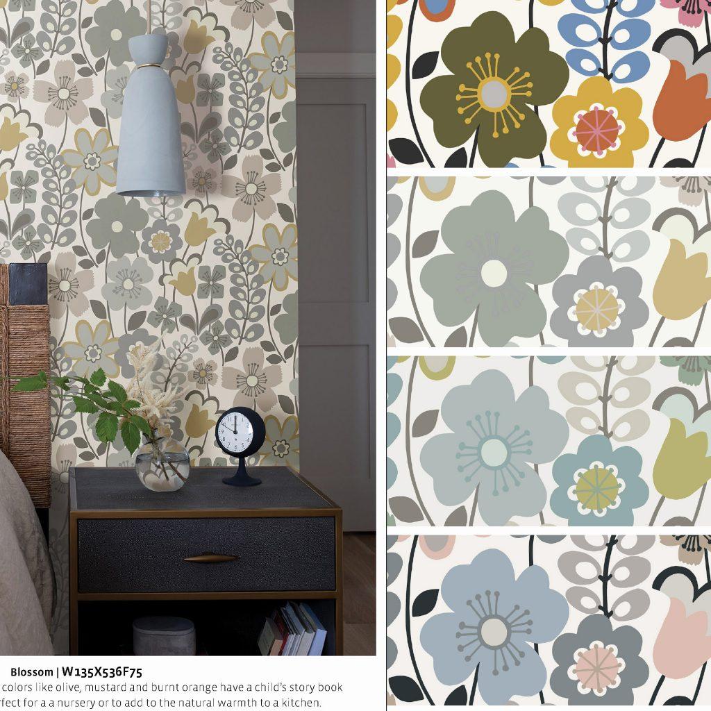 Bluebell-8 Blossom Nilaya Asian Paints Marshalls Wallpaper