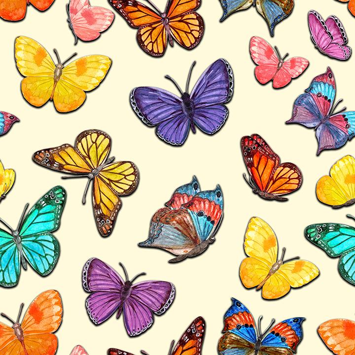 Colorful flying Butterflies-1 Wallpaper Kids & Teens.
