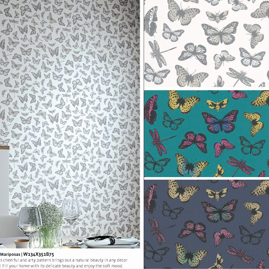 Felicita-III Mariposas Nilaya Asian Paints Marshalls wallpaper