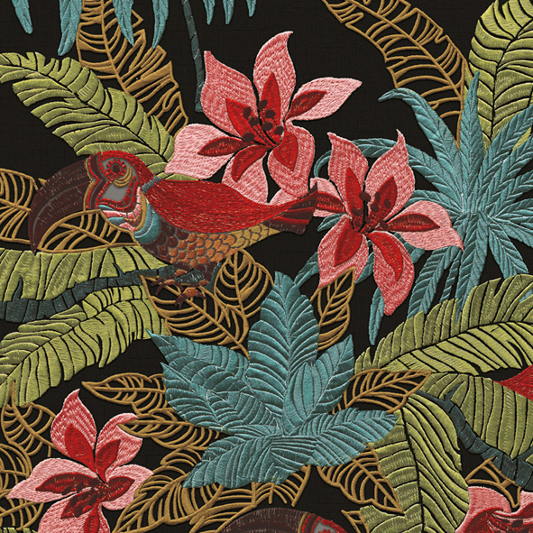 Tropical Forest Floral-2 Wallpaper Walltex by Marshalls