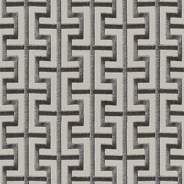 Geometric pattern Grey color Wallpaper Walltex by Marshalls