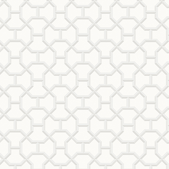 Geometric pattern Ivory Wallpaper Walltex by Marshalls
