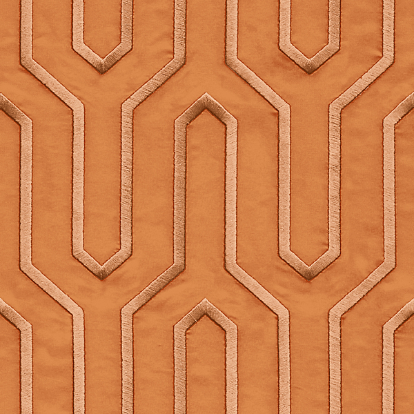 Geometric Lines pattern Orange color Wallpaper Walltex by Marshalls