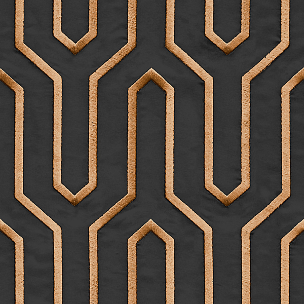 Geometric Lines pattern golden black color Wallpaper Walltex by Marshalls